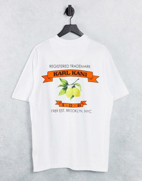 Karl Kani - T-Shirt in Weiß mit kleinem Signatur-Logo