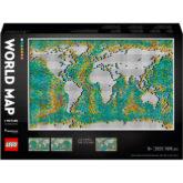 LEGO® Art - 31203 Weltkarte, Hausdekoration, Set für Erwachsene, DIY-Poster zum Sammeln, Wandbild, Geschenkidee