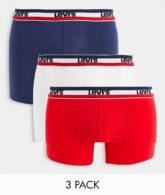 Levi's - Sportkleidung - Boxershorts mit Logo in Marine, Rot und Weiß im 3er-Pack-Mehrfarbig