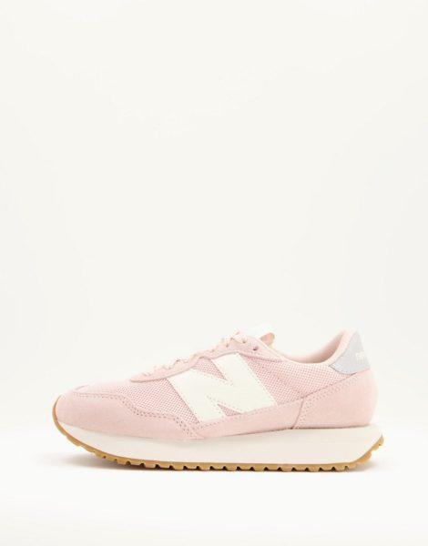 New Balance - 237 - Sneaker aus Netzstoff in Rosa und Cremeweiß