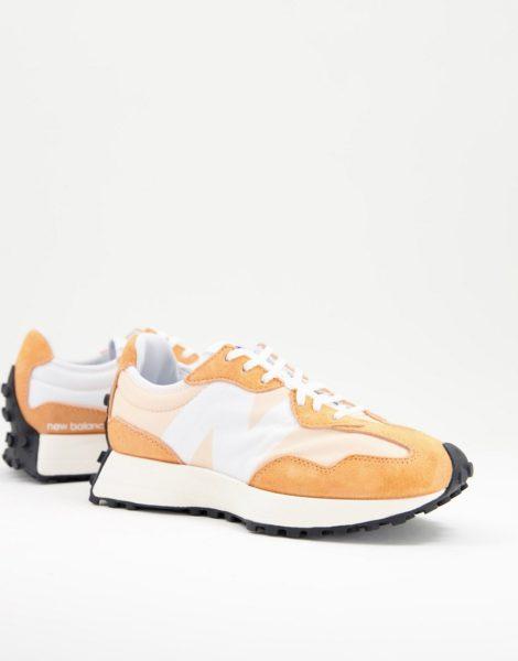 New Balance - 327 - Sneaker in Orange und Weiß