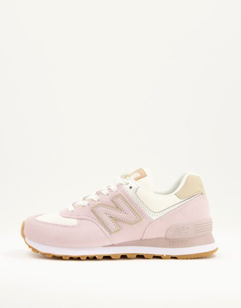New Balance - 574 - Nachhaltige Sneaker in Pastellrosa