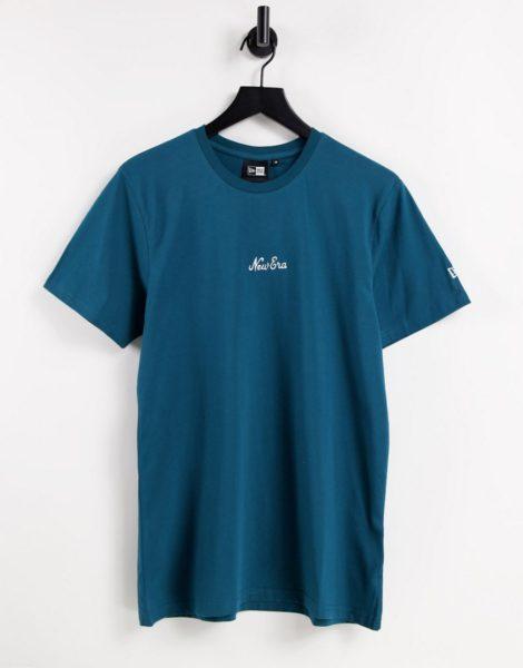New Era - T-Shirt in Blau mit Schriftzug