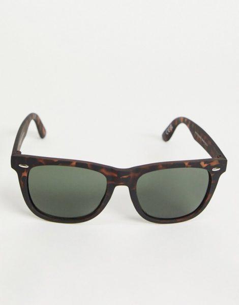 New Look - Retro-Sonnenbrille in Braun und Schildpatt-Design