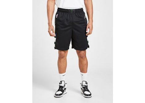 Nike Bucks Statement Edition 2020 Jordan NBA Swingman Shorts für Herren - Black/White - Herren, Black/White