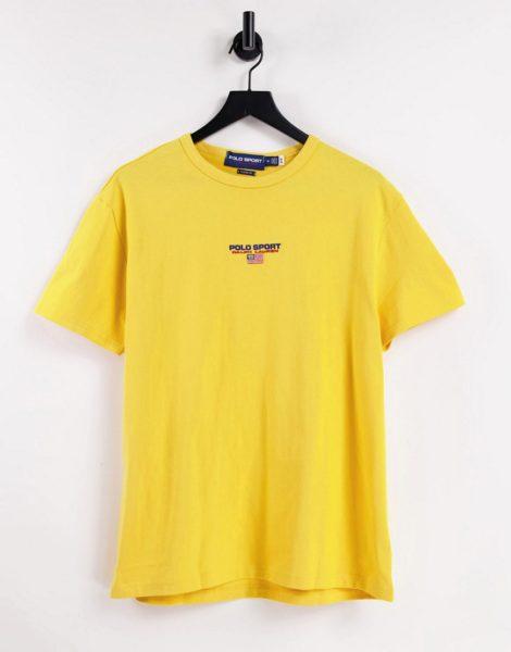 Polo Ralph Lauren - Sport Capsule - T-Shirt in Gelb mit mittigem Logo