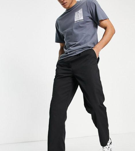 Reclaimed Vintage Inspired - Lockere Hose in Schwarz im Stil der 90er