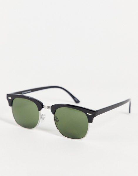Selected Homme - Schwarze Retro-Sonnenbrille