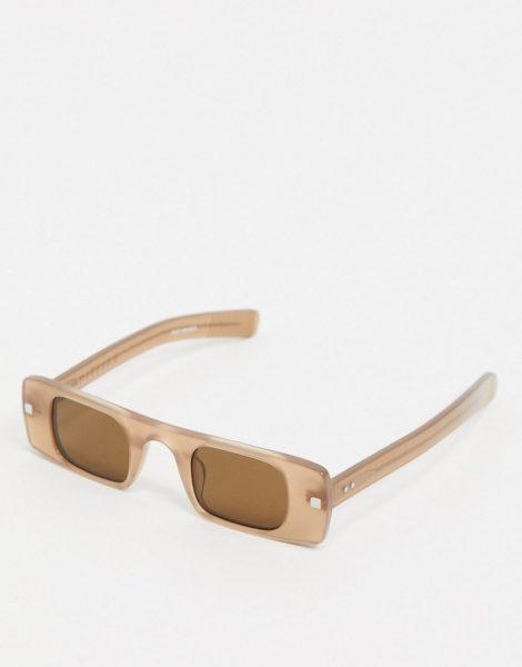 Spitfire - Cut Seven - Schmale, eckige Sonnenbrille in Nude-Neutral