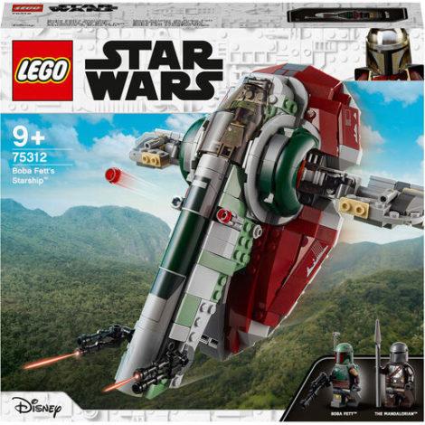 Star Wars™ - 75312 Boba Fetts Starship, Bauset für Kinder ab 9 Jahren, Mandalorian-Modell mit 2 Minifiguren, Geschenkidee