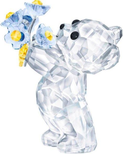 """Swarovski Dekofigur """"Kris Bär - Vergissmeinnicht, 5427993"""" (1 Stück), Swarovski® Kristall"""