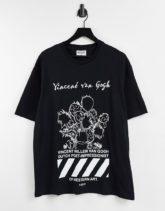 Topman - APOH Vincent Van Gogh - T-Shirt in Schwarz