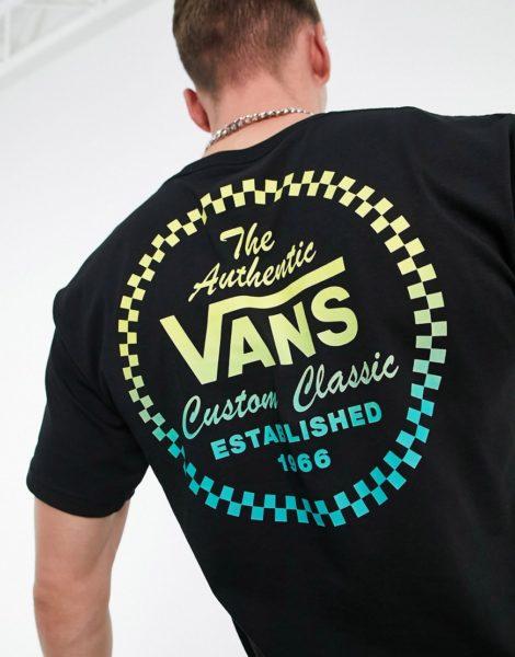 Vans - Custom Classic - T-Shirt in Schwarz mit Rückenprint