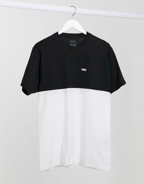 Vans - Schwarzes T-Shirt mit Farbblockdesign, va3czdyb2