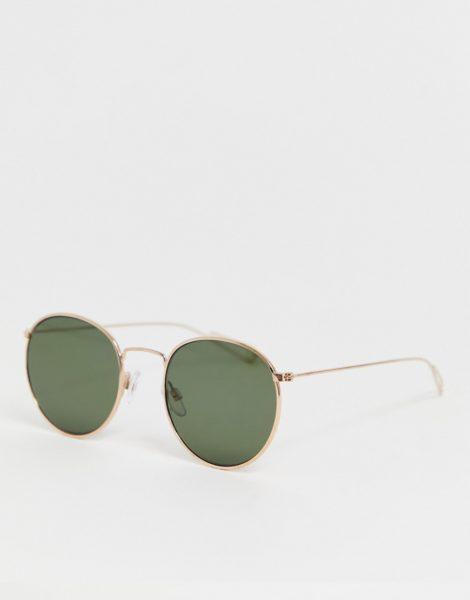Weekday - Explore - Runde Sonnenbrille-Gold