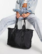 ALDO - Miream - Verstaubare Weekender-Tasche in Schwarz