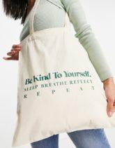 ASOS DESIGN - Be Kind - Shopper-Tasche in Natur-Neutral