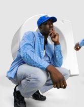 ASOS DESIGN - Extrem übergroßes Dad-Hemd mit Streifen in Blau