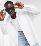 ASOS DESIGN - Extremes Oversize-Dad-Hemd in Weiß