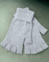 ASOS DESIGN - Fingerlose Handschuhe in Anthrazit-Grau