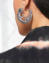 ASOS DESIGN - Silberfarbene Creolen mit Drachendesign
