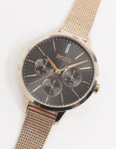 BOSS - Symphony - Goldfarbene Uhr mit Netzarmband, 1502424