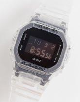 Casio - G-Shock - Digitale Unisex-Armbanduhr mit transparentem Armband, DW-5600SKE-7ER