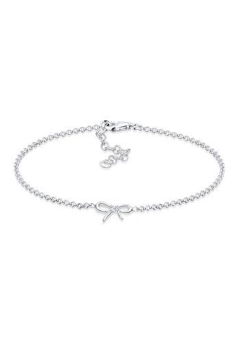 DIAMORE Armband 925 Sterling Silber Schleife Diamant Geschenkidee, Silber, 18cm