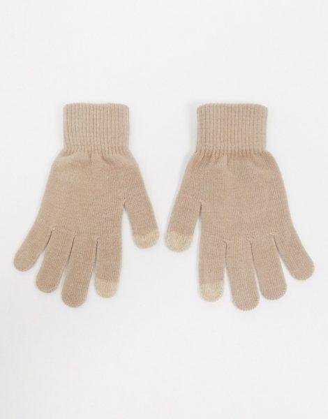 Glamorous - Handschuhe mit Touchscreen-Funktion in Kamel-Neutral