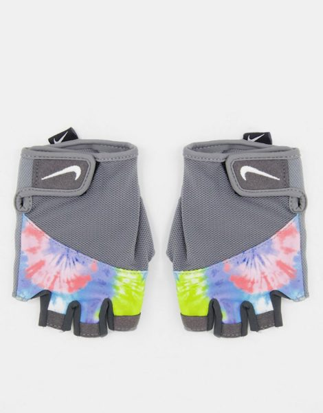 Nike - Sport - Elemental - Fitness-Handschuhe in Grau mit Batikmuster